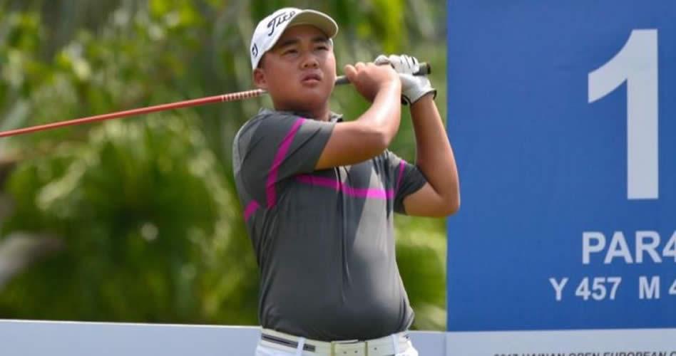 ¡Un niño chino de 13 años pasa el corte en el Hainan Open!