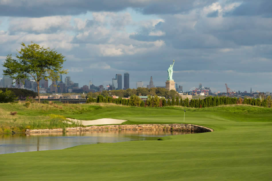 Liberty National Golf Club en New Jersey (cortesía Getty Images - Chris Condon)