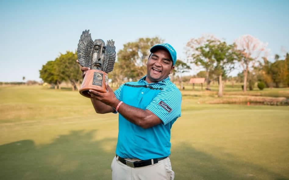Juan Álvarez en el Bolivia Open (cortesía PGA TOUR LA)
