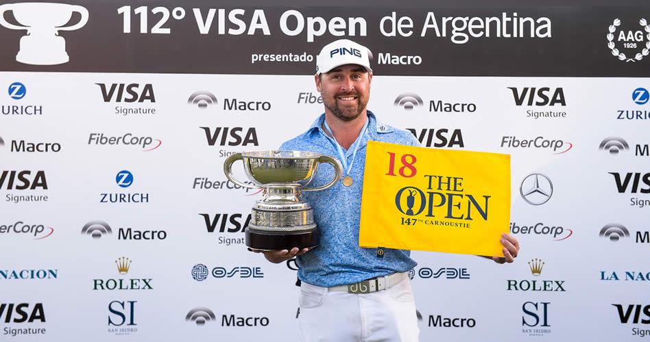 Brady Schnell ganó el 112° VISA Open de Argentina presentado por Macro y jugará The Open en Carnoustie
