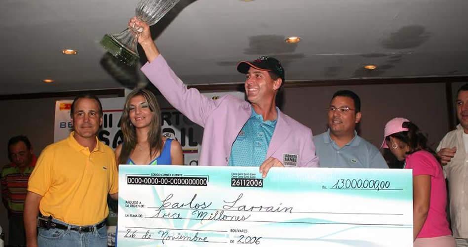 Carlos Larrain ganador de tres Abiertos Sambil