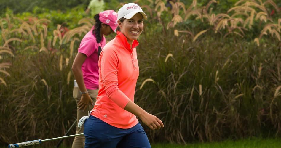 Carlota Ciganda, tercera con -8, la mejor española en la India