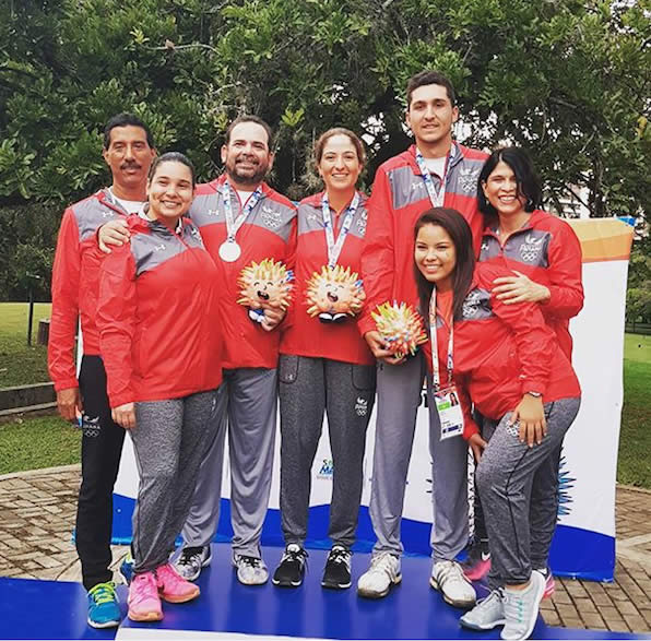 Selección Golf Panamá Bolivarianos 2017 (cortesía APAGOLF)