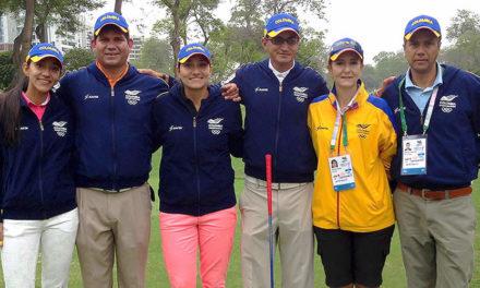 Colombia y Ecuador líderes de los 36 hoyos del Golf Bolivariano