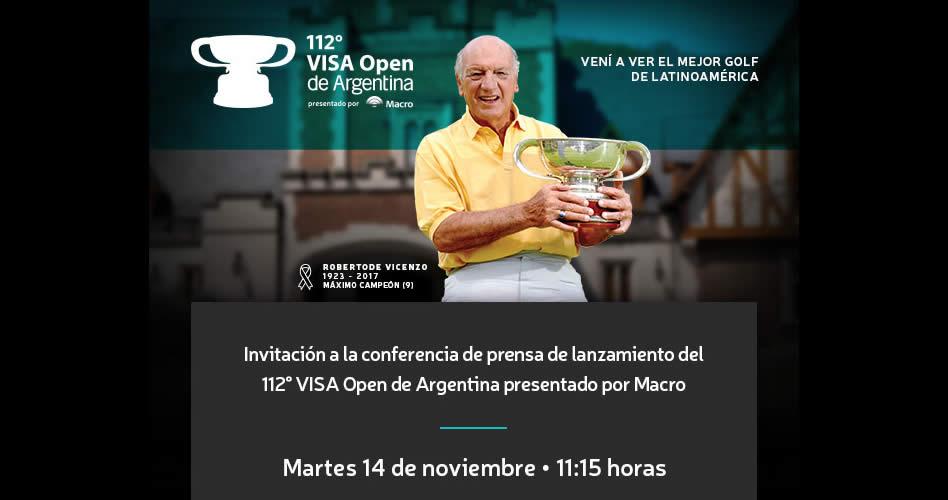 Conferencia de Prensa 112° VISA Open de Argentina presentado por Macro