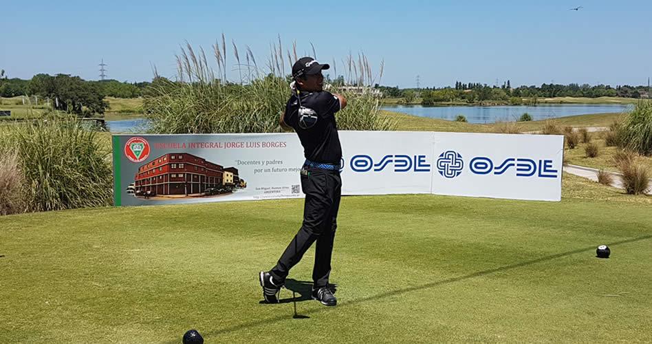 El anfitrión Andrés Romero durante la segunda ronda en el Buenos Aires Golf Club / Foto: Gentileza GMMG