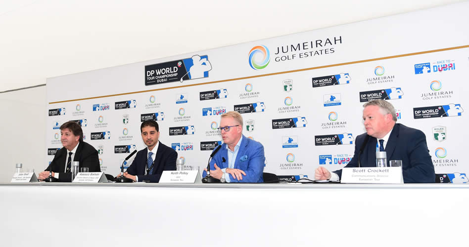 Julian Small, Abdulaziz Bukhatir, Keith Pelley y Scott Crocket (cortesía Worldwide Golf)