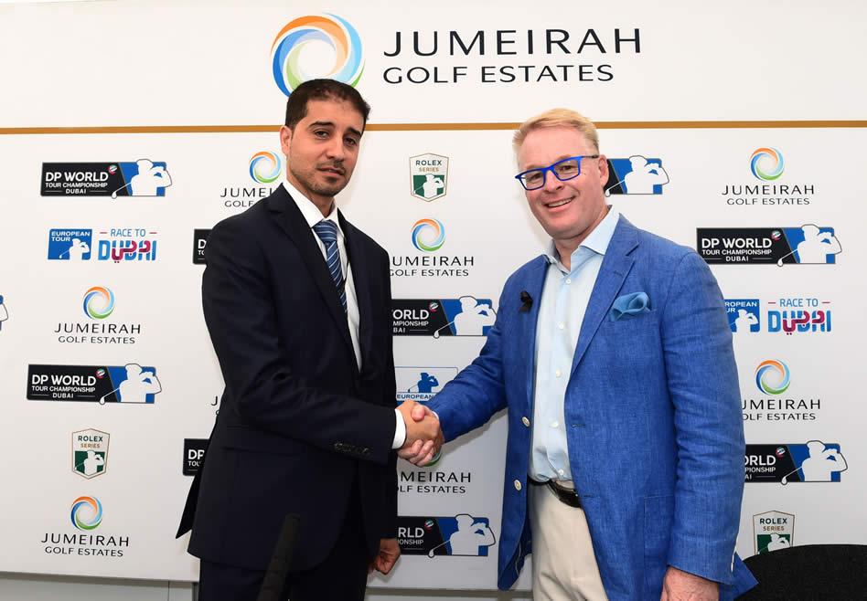Abdulaziz Bukhatir y Keith Pelley (cortesía Worldwide Golf)