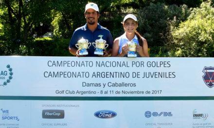 Herik Machado y Ela Anacona Campeones