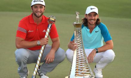 Rahm cierra con impecable tarjeta de 67 para ganar el World Tour Championship; Fleetwood se quedó con la Race to Dubai
