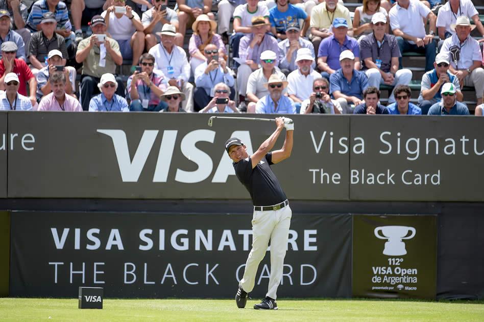 Andrés Romero (ARG), es una de las figuras de este 112° VISA Open de Argentina presentado por Macro y quedó a solo cuatro golpes del líder (Enrique Berardi/PGA TOUR)