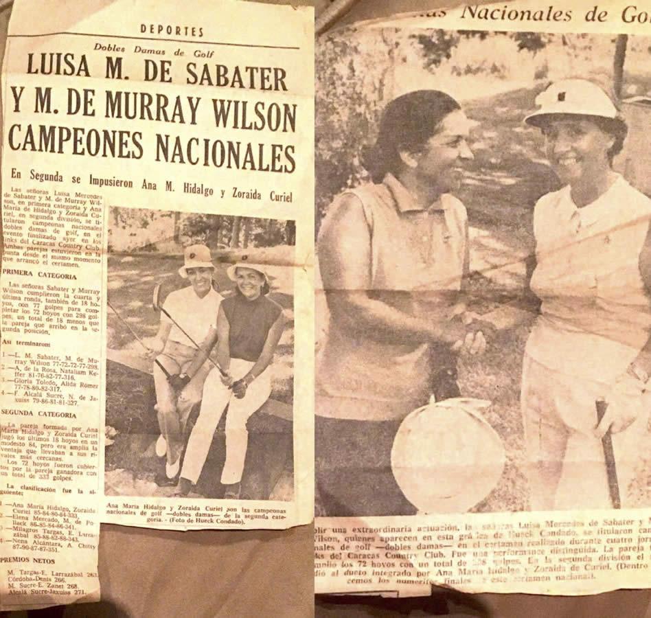 Luisa Mercedes Lander Sabater, una dura del golf nacional de damas