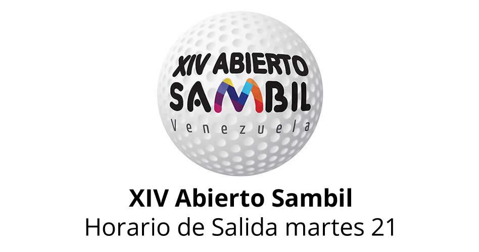 XIV Abierto Sambil, horario de salida martes 21