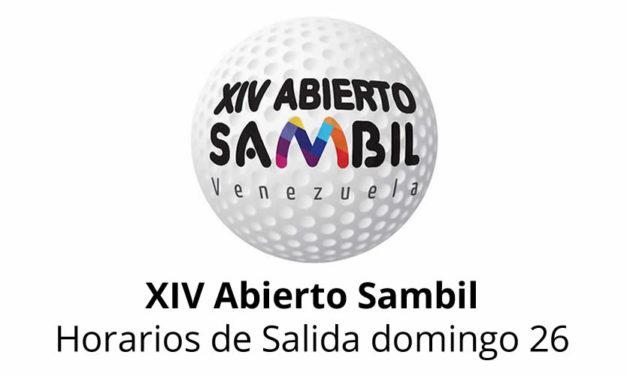 XIV Abierto Sambil, horarios de salida domingo 26
