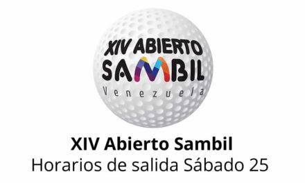 XIV Abierto Sambil, horarios de salida sábado 25