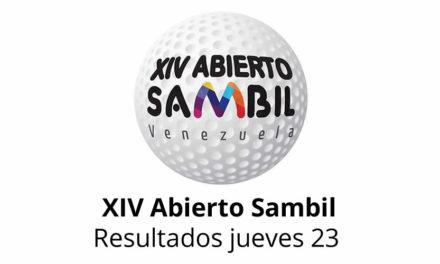 XIV Abierto Sambil, resultados jueves 23