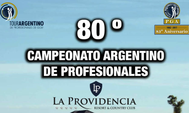 80ª Campeonato Argentino de Profesionales José Cóceres lidera en el campo de La Providencia Resort y Country Club
