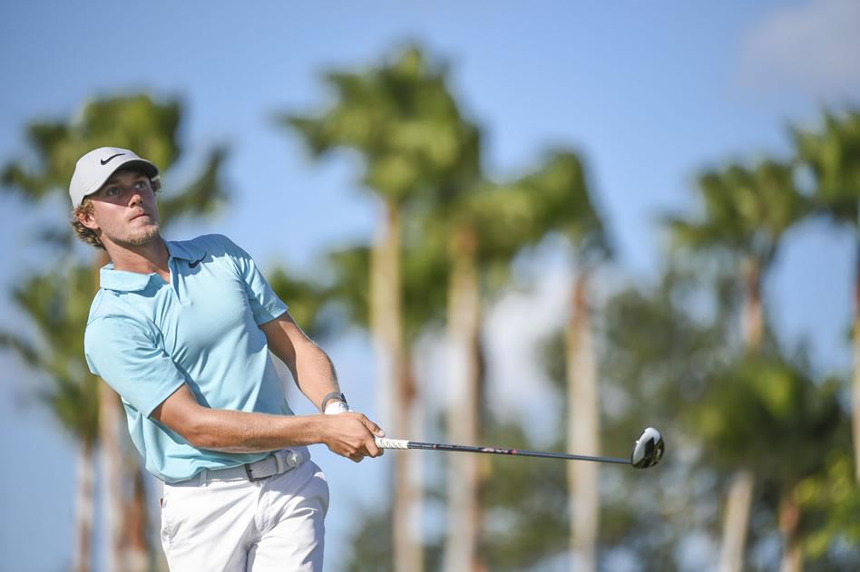 Austin Smotherman durante la segunda ronda del Shell Championship (Enrique Berardi/PGA TOUR)
