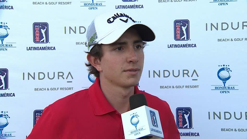 Nicolás Echavarría, líder del golf professional colombiano