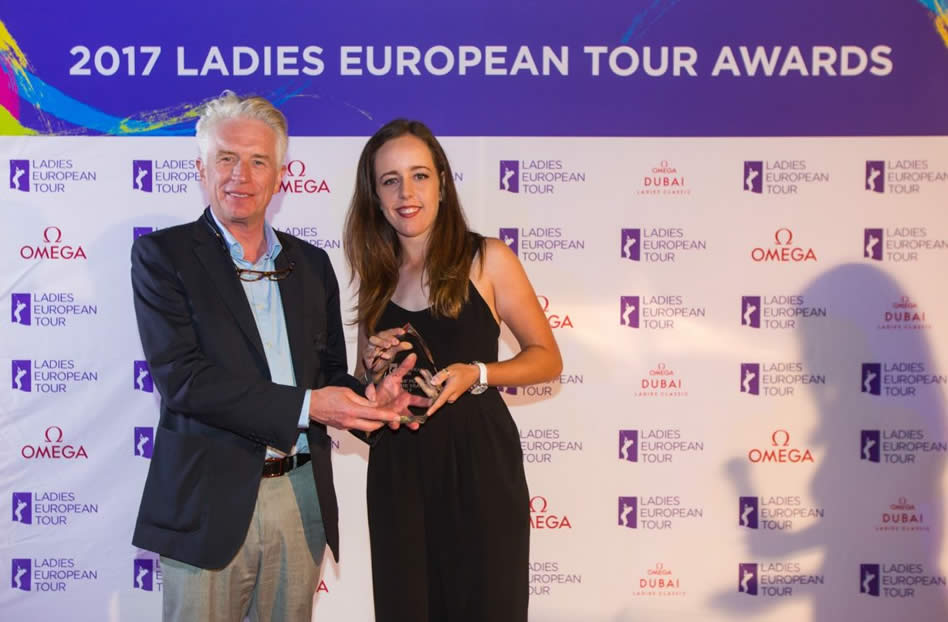 Georgia Hall, ganadora de la Orden al Mérito del Ladies European Tour