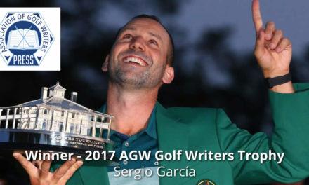 Sergio García conquista por segunda vez en su carrera el Golf Writers Trophy