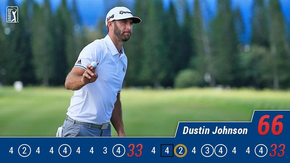 Dustin Johnson, haciendo cosas de Número 1…
