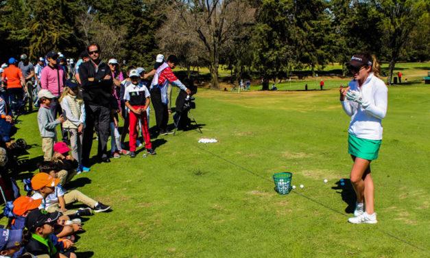 Gaby López motiva a los golfistas en la 4ta etapa de la Gira AGVM
