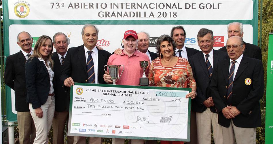 Gustavo Acosta superó a Horacio León para triunfar en el Abierto Granadilla 2018; Niemann termina quinto