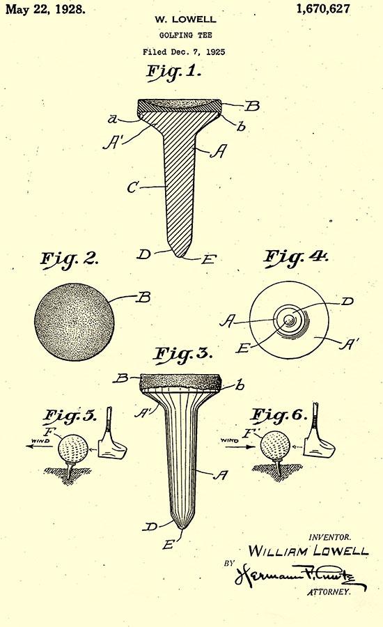 Dr. George F. Grant, el dentista que inventó el Tee de madera (cortesía thegolfballfactory.com)