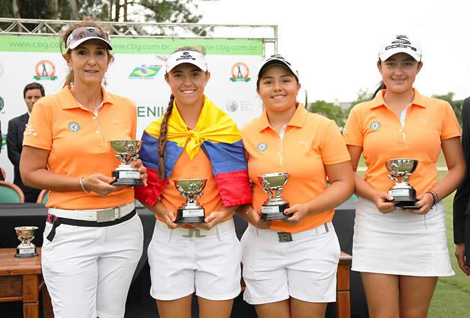 Las damas colombianas, ganadoras en Brasil