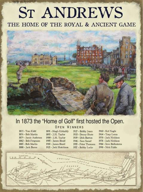 The Open cumplirá 150 años en St. Andrews en el 2021 (cortesía Sweet & Nostalgic)