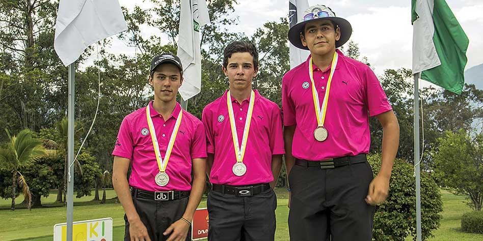 Juan Camilo Vesga, Santiago Chamorro y Esteban Jaramillo