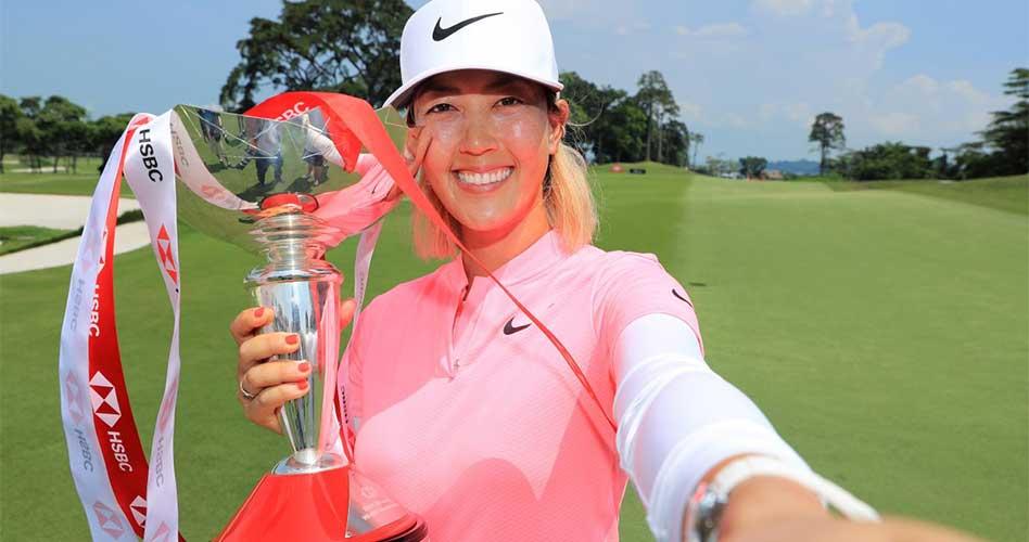 Con un espectacular birdie en el hoyo final, Wie conquistó su primer título desde 2014 en el Women's World Championship