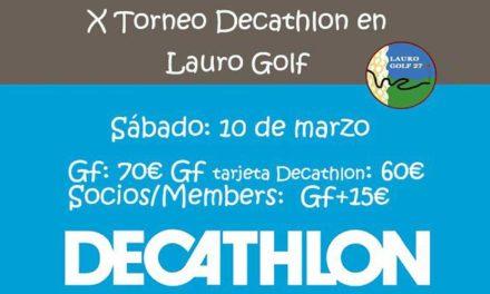 Lauro Golf prepara la décima edición del Torneo Decathlon el próximo diez de marzo