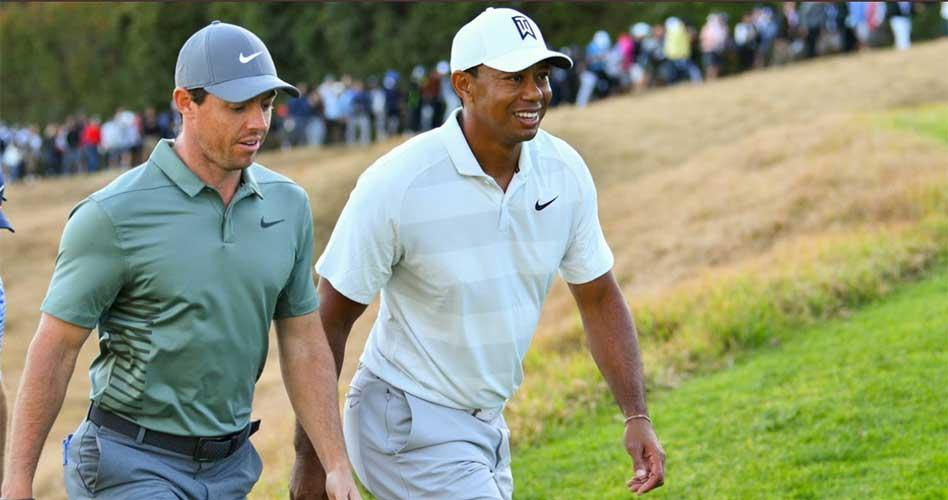 Televidentes encendidos con Tiger y Rory en juego