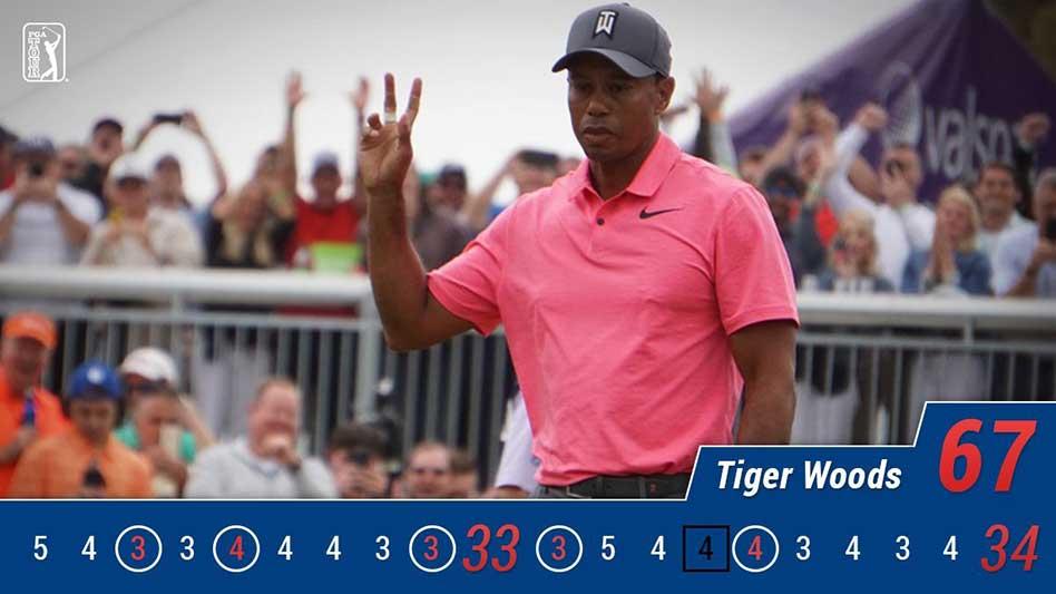 Tiger Woods vuelve a ilusionar: es segundo y aspira a ganar tras casi cinco años
