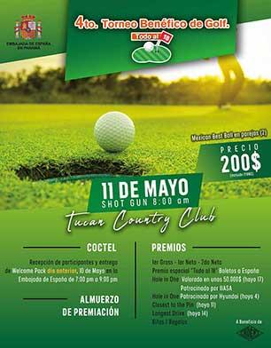 4o Torneo Benéfico de Golf Todo al 18. 11 de Mayo, Tucan Country Club