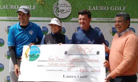 Julio Fernández, Noemí Jiménez y J. Carlos Osorio ganadores de la primera prueba del Circuito de Profesionales de Lauro Golf