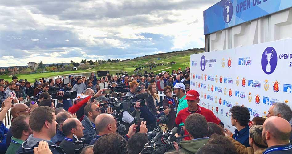 Más de 200 periodistas de un centenar de medios, acreditados en el Open de España de Golf