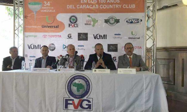 Tres campeones repiten en 34º Abierto de Venezuela