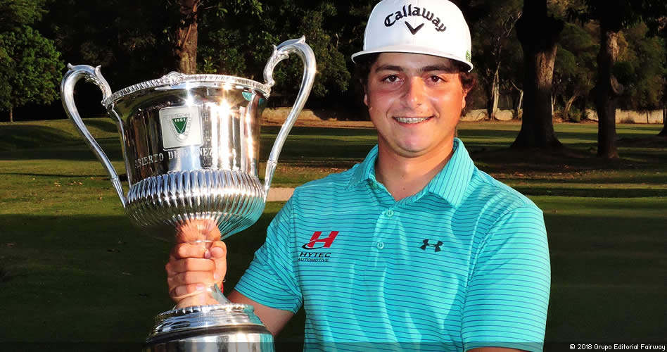 Trujillo gana 1er título profesional en el 34º Abierto de Venezuela