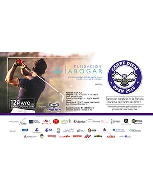 Carpe Diem Open 2018 Torneo en beneficio de la Escuela Nacional de Sordos del I.P.H.E. 12 de Mayo, Tucán Country Club