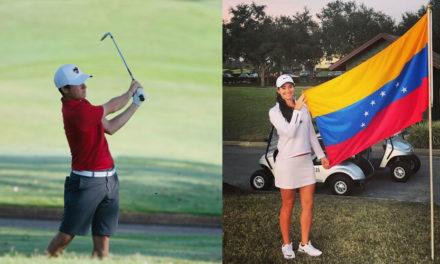 Jorge García y Alazne Urizar comienzan actuación en golf de Juegos Odesur 2018