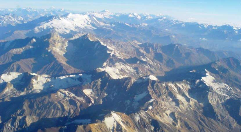 La nieve de la Cordillera de Los Andes, tan limpia como la del Ártico canadiense