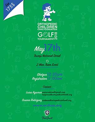 Orthopedic Children Care Foundation Golf Tournament 2018, Trump National Doral. May 17th