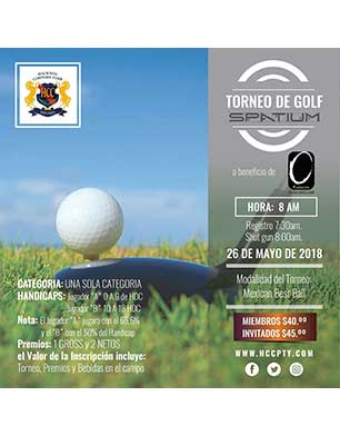 Torneo de Golf Spatium, 26 de Mayo, Hacienda Country Club