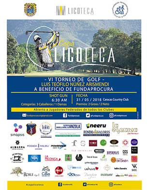 VI Torneo de Golf Luis Teófilo Arismendi a beneficio de Fundaprocura Copa Licoteca. 31 de Mayo, Caracas Country Club