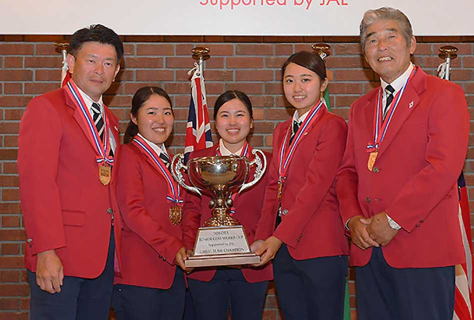 Japón, el equipo ganador en damas