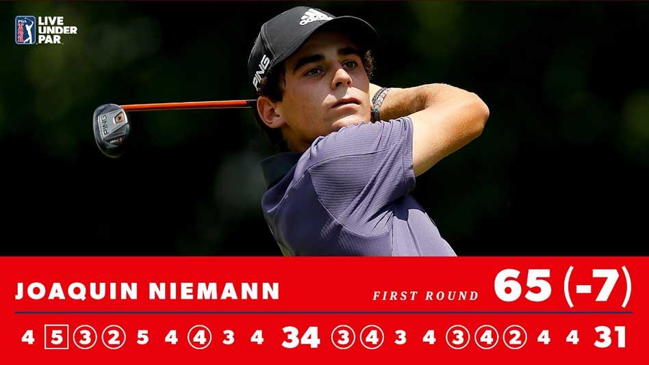 Joaquín Niemann lleva siete presentaciones en el PGA Tour y cinco de ellas en la presente temporada con dos Top-10