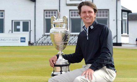 Jovan Rebula, sobrino de Ernie Els, el ganador del The Amateur Championship 2018